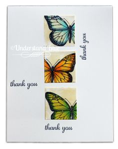 Understand Blue: Isn't EVERYTHING made from scratch? Beautiful Butterfly Thank You Card