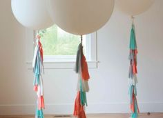 Love these- my next diy task! The Alison Show: howtomakeballoonfringetassels1