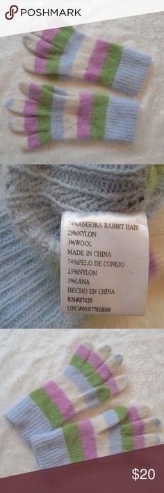 Womens Angora Rabbit Hair Knit Gloves Super soft angora rabbit hair blend women's knit gloves. Accessories Gloves & Mittens