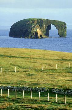 Dore Holm Natural Arch, Eshaness, Shetland Islands, Scotland