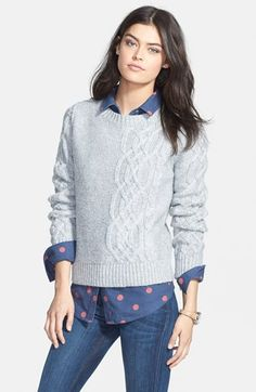 Hinge  Cable Knit Sweater available at #Nordstrom #NSale
