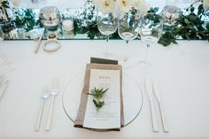 Lauren Schwab and Bobby Webster's East Hampton Wedding...unopened scabiosa at place setting