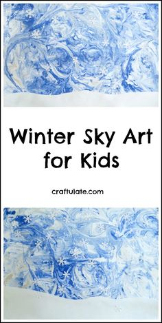 Winter Sky Art for Kids - using a marbling technique and paper punches! Winter Crafts For Toddlers, Winter Activities, Art Activities, Winter Thema, January Art, Snowflakes Art, Winter Art Projects, Winter Sky, Winter Kids