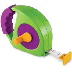 Simple Tape Measure for Kids - Educational Toys Planet. Great gift for 3 years old child. Your little doers will love measuring everything with this kids sized, manual-wind, easy-to-use toy tape measure by Learning Resources. Develops Skills - pretend play, numbers, measuring skills. #toys #learning #educational #gifts #child https://www.educationaltoysplanet.com/simple-tape-measure-for-kids.html