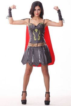 Warrior Cosplay Costume Gladiator Cosplay 2014 Carnival Halloween Costumes For Women Adult Fancy Party Outfit