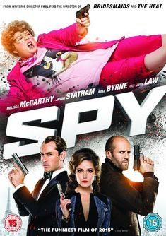 Spy Funny Films, Comedy Movies, Film Movie, Jude Law, Jason Statham, Fast And Furious, Spy Film, Melissa Mccarthy Movies, Poster