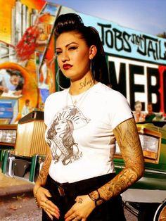 Beautiful chola with tattoos