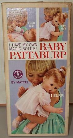 MATTEL: 1964 BABY PATTABURP Burping Doll