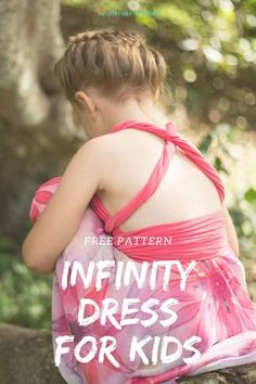 This Best Wrap Dress Pattern is amazing for girls. They can wear it so many ways. And now for the bit you will love as a busy mom.I don't even get the sewing machine out! I create this gorgeous…More Infinity Dress Patterns, Infinity Dress Ways To Wear, Infinity Dress Tutorial, Girl Dress Patterns, Kids Wraps, Best Wraps, Diy Dress, Wrap Dress, Easy Sewing Projects