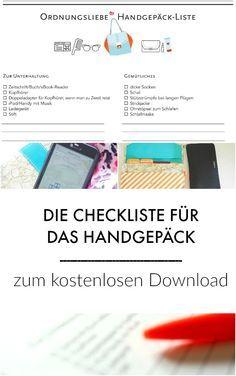 Kostenlose Checkliste zum Download: Damit im Handgepäck nichts fehlt!