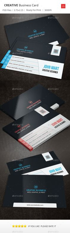 Creative Business Card v.25 by psdriver This Business Card Template is Suitable for any Business or Personal name card use. Info:  300 DPI High Resolution Bleed Size