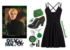 """""""My Date With Draco"""" by autumnhorse2 ❤ liked on Polyvore featuring Blu Bijoux, Blue Nile, MAKE UP FOR EVER, Rouge Bunny Rouge and BERRICLE"""