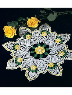 Yellow Rose of Texas Doily -- a pretty pop of summery color.