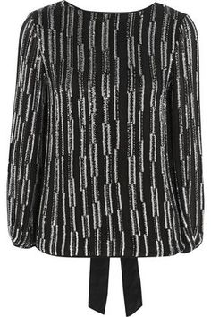 DIANE VON FURSTENBERG Evvy open-back embellished silk-chiffon top 220 € https://www.theoutnet.com/en-pt/shop/product/item_cod22308642287746058.html