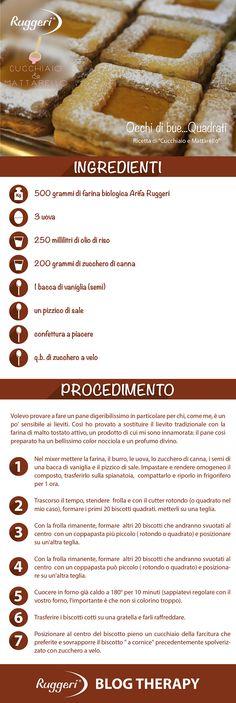 Ricetta per occhi di bue...quadrati, con farina biologica Arifa Ruggeri. http://www.ruggerishop.it  www.arifa.it http://blog.alice.tv/cucchiaioemattarello/