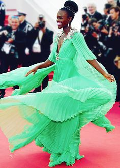 """Lupita Nyong'o attends the opening ceremony and premiere of """"La Tete Haute"""" (""""Standing Tall"""") during the 68th annual Cannes Film Festival (may 13th, 2015)"""
