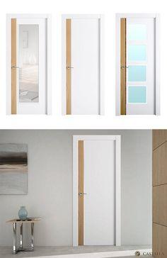 Puerta de Interior Blanca | Modelo Sicilia de la Serie Exclusive de Puertas Castalla. Puerta Lacada blanca