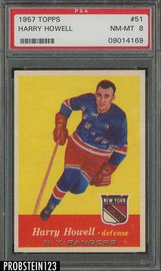 1957 Topps Harry Howell Hockey Card for sale online Hockey Games, Ice Hockey, Wayne Gretzky, New York Rangers, Nhl, Baseball Cards, 1930s, Table, Sports