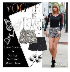 """""""Lace Shorts -Spring Summer Must Have"""" by shaheenk ❤ liked on Polyvore featuring Alice + Olivia, Valentino and lace"""