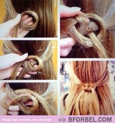 Coolest hair knot ever! HAVE to try this.