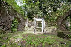 Anse Mamin Plantation ruins in St Lucia