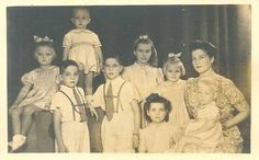 The Countess of Paris with some of her children