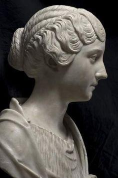 """Busto di Faustina Minore - """"L'Età dell'Equilibrio. Traiano, Adriano, Antonino Pio, Marco Aurelio"""" (The Age of Balance. Trajan, Hadrian, Antoninus Pius, Marcus Aurelius) - Musei Capitolini."""