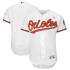 8f890567c Men Baltimore Orioles Blank White Mothers Edition MLB Jerseys