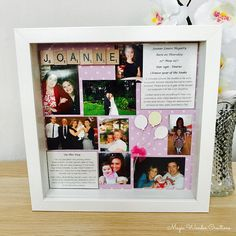 On This Day Frame Personalised Scrabble On This Day Gift On