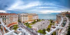 Thessaloniki, the biggest city of northern Greece Quotes About Photography, Thessaloniki, Night Life, Paris Skyline, Greece, Tours, Stock Photos, Mansions, World