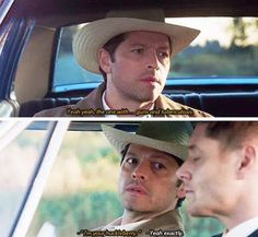 I'm You're Huckleberry  I love how Dean just rolls with it it's so cute
