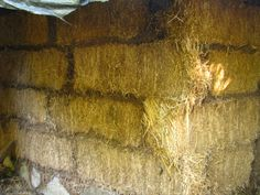 This technique uses straw bales to produce a load bearing wall with cob squished in the seams to seal it and tighten it up.  The cob is not applied like mortar to bricks, as that would cause a thermal break: heat would be leeched from the inside and transferred outside.