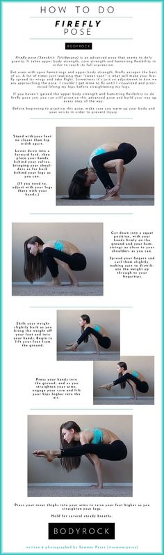 Yoga Übung Ashtanga: Firefly Pose in 5 Schritten *** How to do Firefly Pose in 5 steps