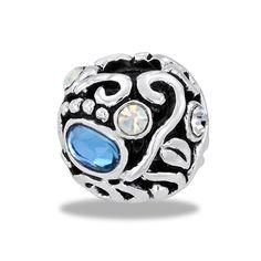 DaVinci Beads Filigree CZ Globe 2 Jewelry