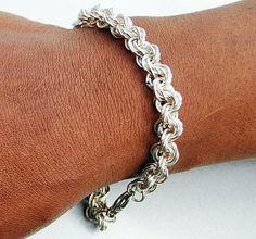 Sterling Silver Chainmaille Bracelet Mens Sterling by UrbanJule, $275.00 Handmade men's jewelry, handmade men's bracelet
