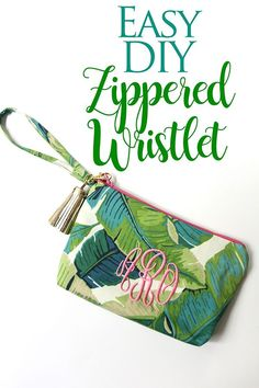 Easy-to-Sew DIY Zippered Wristlet! Make this in less than an hour for just a few dollars!