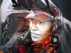 street art & graffiti - Amsterdam - C215 - portrait of Jef Aerosol by _Kriebel_, via Flickr