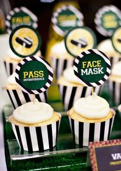 Hostess with the Mostess® - Big Game Football Party cupcakes