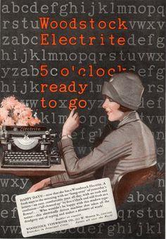 Woodstock Electrite typewriter ad, 1926