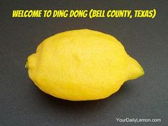 Welcome to Ding Dong (Bell County, Texas)