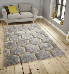 Le House Grey And Yellow Rug 30782 Gorgeous Gy Rugs With A Deep