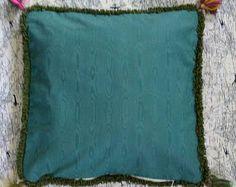 Tassel corner Pillowcase 18 x 18 Festive Floral