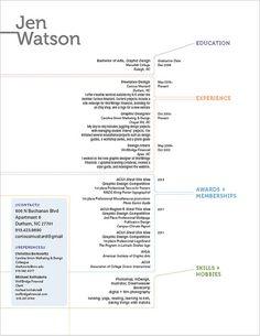Jen Watson resume design | Flickr - Photo Sharing!