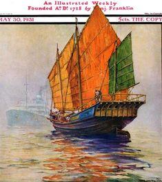 Chinese Junk: Anton Otto Fischer 1931