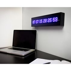 PRODUCTS :: LIVING AND DESIGN :: Accessories, Decorations :: Clocks :: Clocks on wall :: LED Calendar Wall Clock