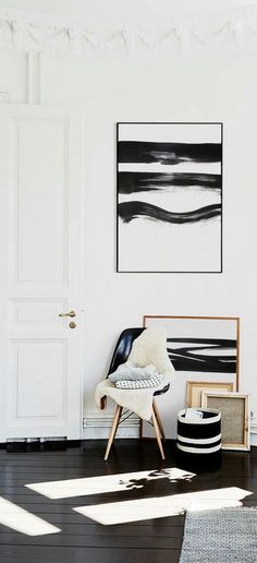 DIY Wall Art: Simple But Striking DIY Black and White Wall Art ...