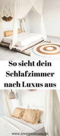 Wanddeko Leinwand mit Handlettering Quotes German and Interiors