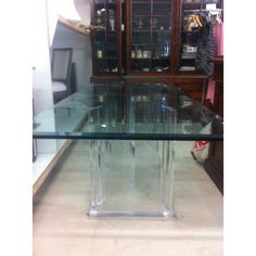 Glass Dining Table  with banquette and armchairs