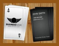 Black Casino Style Business Card Template Set PSD - http://www.welovesolo.com/black-casino-style-business-card-template-set-psd/