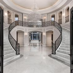 The Premier Full Service Luxury Home Builder. Fratantoni Luxury Estates is the preeminent Design-Build Firm of Luxury Homes in Arizona. Luxury Staircase, Double Staircase, Staircase Design, Grand Staircase, Stairs, Luxury Homes Dream Houses, Dream House Interior, Dream Home Design, Modern Mansion Interior